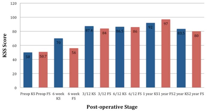 Figure 2: Average Knee & Function Scores